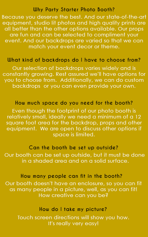 LOS ANGELES PHOTO BOOTH FAQS