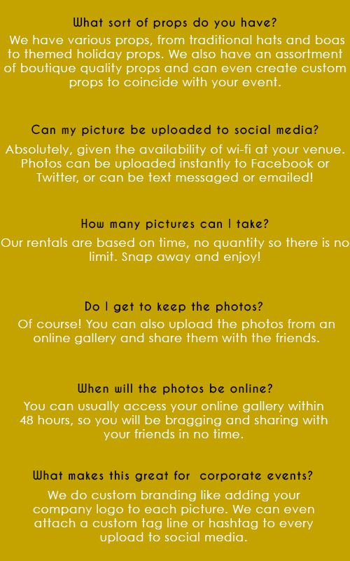 LOS ANGELES PHOTO BOOTH FAQS 2