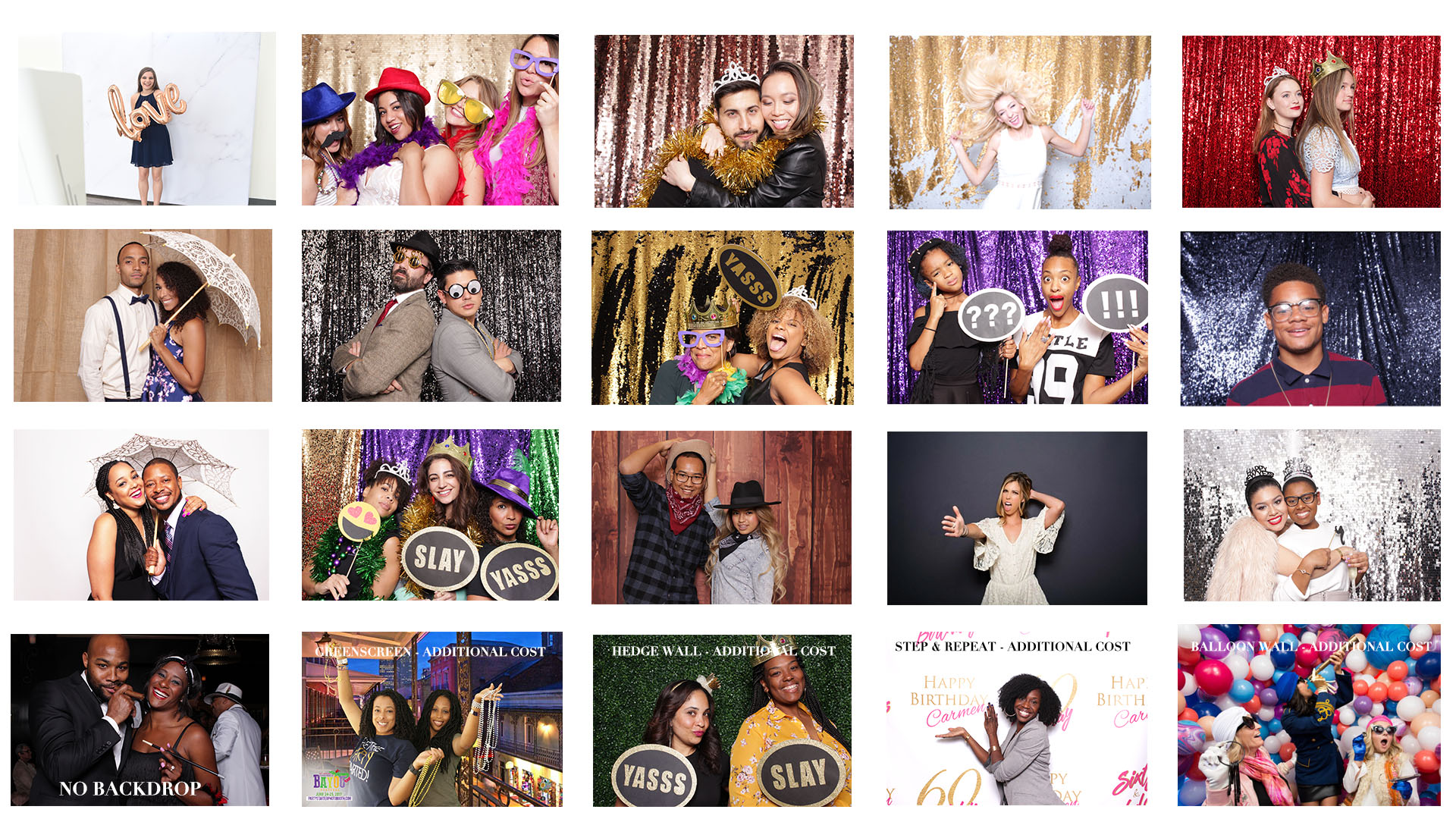 PARTY STARTER PHOTO BOOTH BACKDROPS